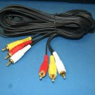 1- 3 FT 3 RCA AUDIO VIDEO PATCH CABLE DVD AV HDTV 287-3