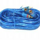 BLUE RCA  CABLE 17 FT GOLD  RCA 2 MALES GRD WIRE NEW