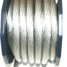 0 GAUGE SILVER POWER WIRE SUPERFAT per 24 ft 100%COPPER