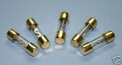 AGU FUSES 5 PACK 20 AMP GOLD PLATED
