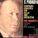 PROKOFIEV Cello Orchestra MONIGHETTI Cello Concerto Melodiya LP C10 9033