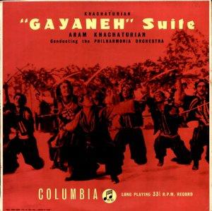 """Aram Khachaturian """"Gayaneh"""" Suite UK Columbia EMI 33C 1041 NM"""