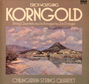 ERICH KORNGOLD STRING QUARTETS 1 & 3 CHILINGIRIAN RCA UK RL 25097 NEAR MINT LP