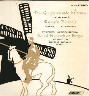 Oscar Espla Don Quijote Velando Albeniz Halffter Burgos London ffrr STEREO SEALED LP