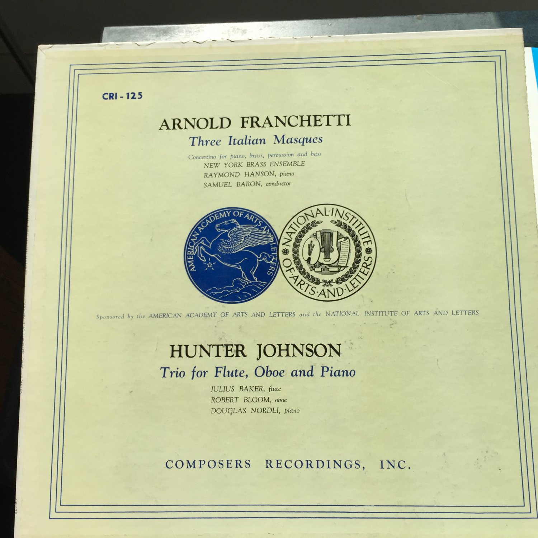 Billy Jim Layton Claremont String Quartet Moevs Bloch String Quartet Movements Sonata Piano CRI 136