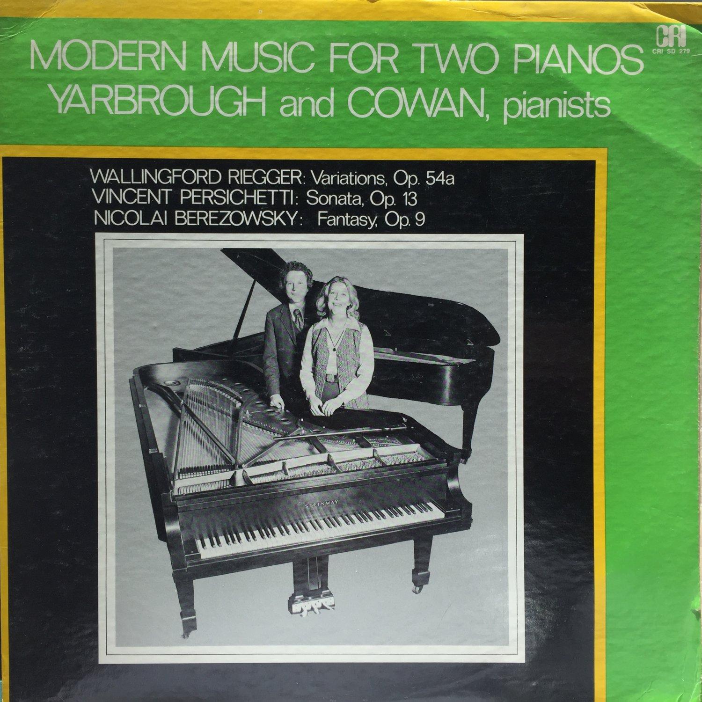 Wallingford Riegger, Vincent Persichetti, Nicolai Berezowsky – Modern Music For Two Pianos CRI 279