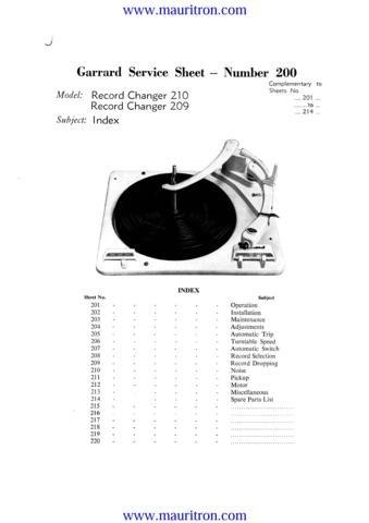GARRARD 210 Service Manual with Schematics Circuits on Mauritron CD