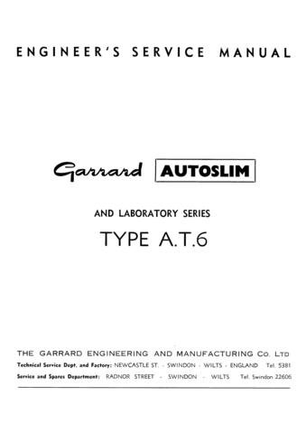 GARRARD AT6 Autoslim Service Manual with Schematics Circuits on Mauritron CD