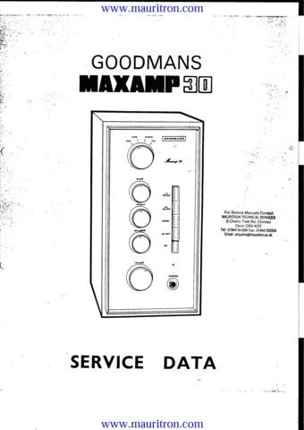 GOODMANS MAXAMP 30 Service Manual with Schematics Circuits on Mauritron CD