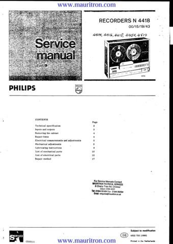 PHILIPS N4510 Service Manual with Schematics Circuits on Mauritron CD