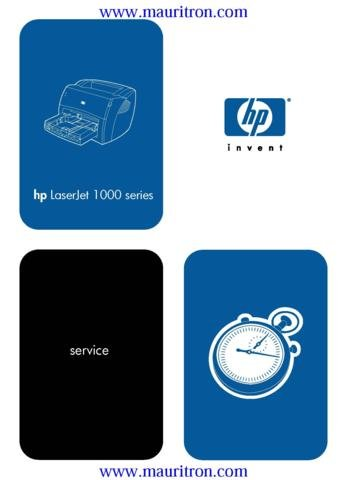 HEWLETT PACKARD LASERJET 1000 Service Manual with Schematics Circuits on Mauritron CD