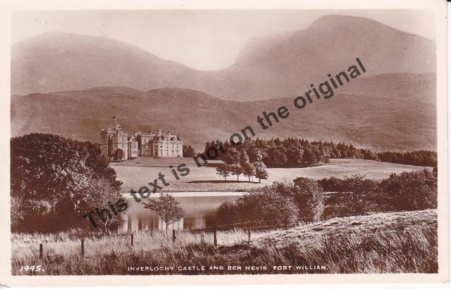 Inverlochy Castle and Ben Nevis Fort William Scotland - Mauritron Postcard #419