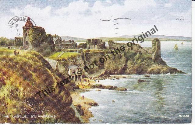 The Castle St Andrews Scotland - Mauritron Postcard #417