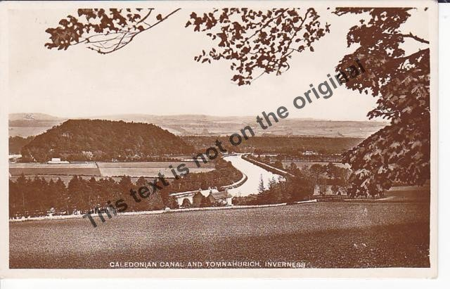 Caledonian Canal and Tomnahurich, Inverness Scotland - Mauritron Postcard #409