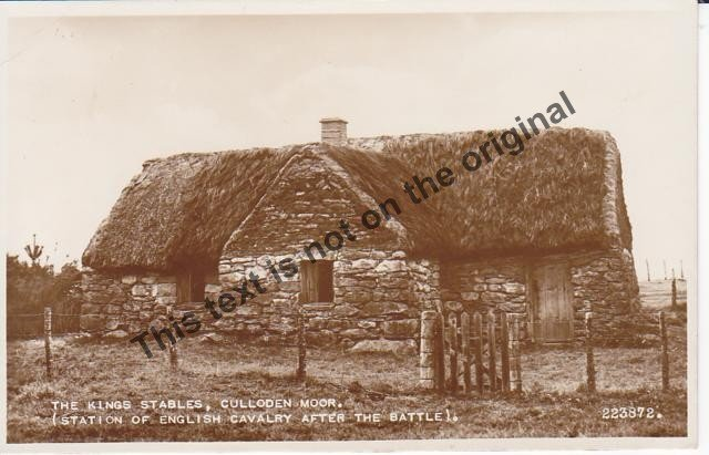 The Kings Stables, Culloden Moor Scotland - Mauritron Postcard #407