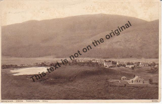 Braemar from Tomintoul Hill Scotland - Mauritron Postcard #357