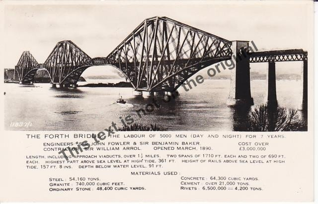 The Forth Railway Bridge Scotland - Mauritron Postcard #359