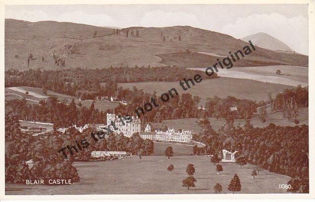 Blair Castle Scotland - Mauritron Postcard #361