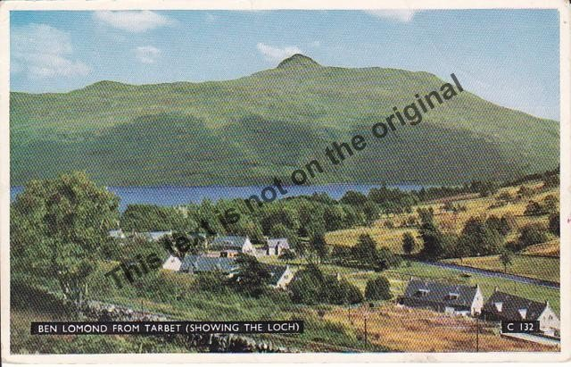 Ben Lomond from Tarbet Scotland - Mauritron Postcard #363