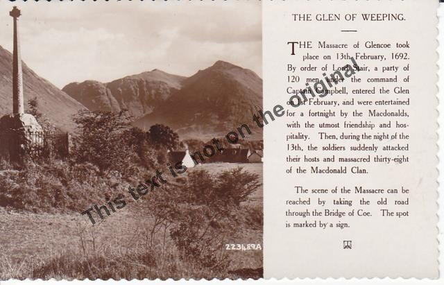 The Glen of Weeping Scotland - Mauritron Postcard #365