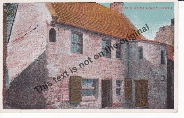 Fair Maids House Perth Scotland - Mauritron Postcard #369