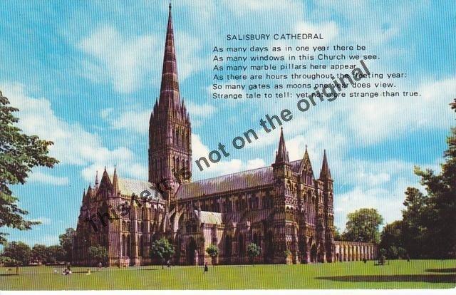 Salisbury Cathedral England - Mauritron Postcard #179