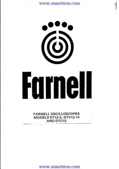 FARNELL DTC12 Service Manual with Schematics Circuits on Mauritron CD
