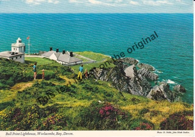 Bullpoint Lighthouse, Woolacombe Bay Devon England - Mauritron Postcard #327