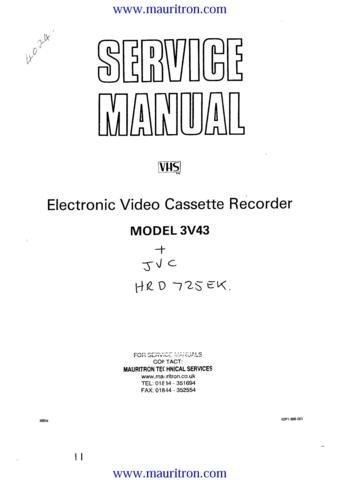 JVC HRD-725EK Service Manual with Schematics Circuits on Mauritron CD