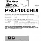 PIONEER PRO1000HDI Service Manual with Schematics Circuits on Mauritron CD