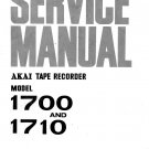 AKAI 1700 Service Manual with Schematics Circuits on Mauritron CD