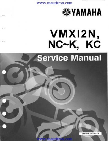 YAMAHA VMX12NC-K  Service Manual with Schematics Circuits on Mauritron CD