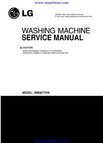 LG WD12270RD Service Manual with Schematics Circuits on Mauritron CD