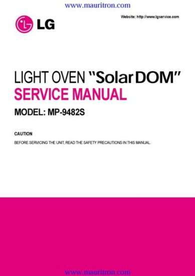 LG MP-9482S Service Manual with Schematics Circuits on Mauritron CD