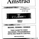 AMSTRAD DD9904 DD-9904 Service Manual with Schematics Circuits on Mauritron CD