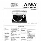 Aiwa LP3000 Service Manual. From Mauritron