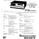 Sony 710 Service Manual. From Mauritron