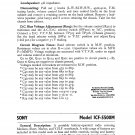 Sony ICF5500M Service Manual. From Mauritron