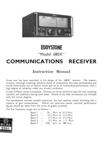 Eddystone 680X Operating Guide Mauritron