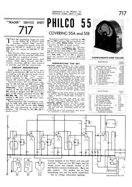 Philco 55 Technical Repair Manual Mauritron
