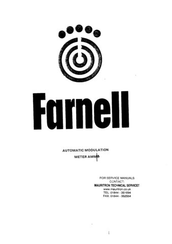 Farnell AMM Service Manual Operating Guide Combined Mauritron