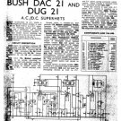 Bush DUG21 Vintage Service Circuit Schematics mts#77