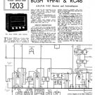 Bush RG46 Vintage Service Circuit Schematics mts#85