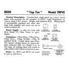 Bush TOP TEN Vintage Service Circuit Schematics mts#98