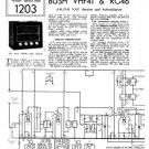Bush VHF41 Vintage Service Circuit Schematics mts#123