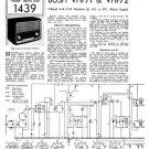 Bush VHF72 Vintage Service Circuit Schematics mts#129