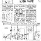 Bush VHF81 Vintage Service Circuit Schematics mts#131