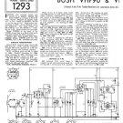 Bush VHF90C Vintage Service Circuit Schematics mts#134