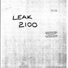 Leak 2100 Schematics Service Circuits mts#163