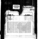 Hacker Helmsman RP36 Service Manual Schematics. mts#201